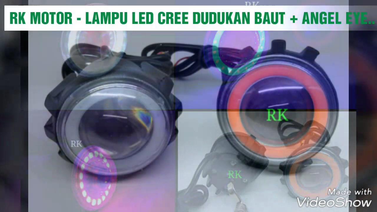 Lampu Led Cree Outdoor Dudukan Baut Angel Eye Luminos Youtube Sorot Motor U7 Mini Eyes Rk Video