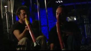 Didgeridoo duo live in Bologna: Gianni Placido & Gabriele Gubbelini