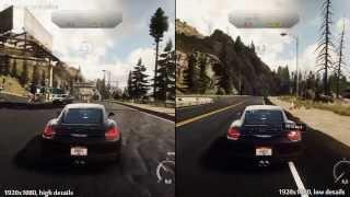 NFS Rivals (PC) - High vs Low Details - Graphics Comparison