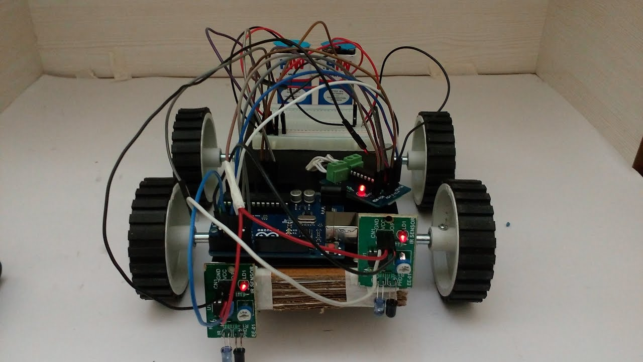 How to make a line follower robot using arduino uno youtube