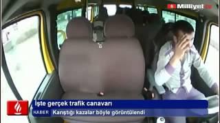 Direksiyon Başında Uyuyan Minibüs Şöförü