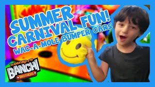 Summer Carnival Fun! Bumper Cars, Wac-A-Mole, and Slushies! | Banchi Brothers Adventures thumbnail