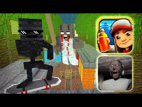 download Monster School : GRANNY VS SUBWAY SURFERS GAME CHALLENGE - Minecraft Animation