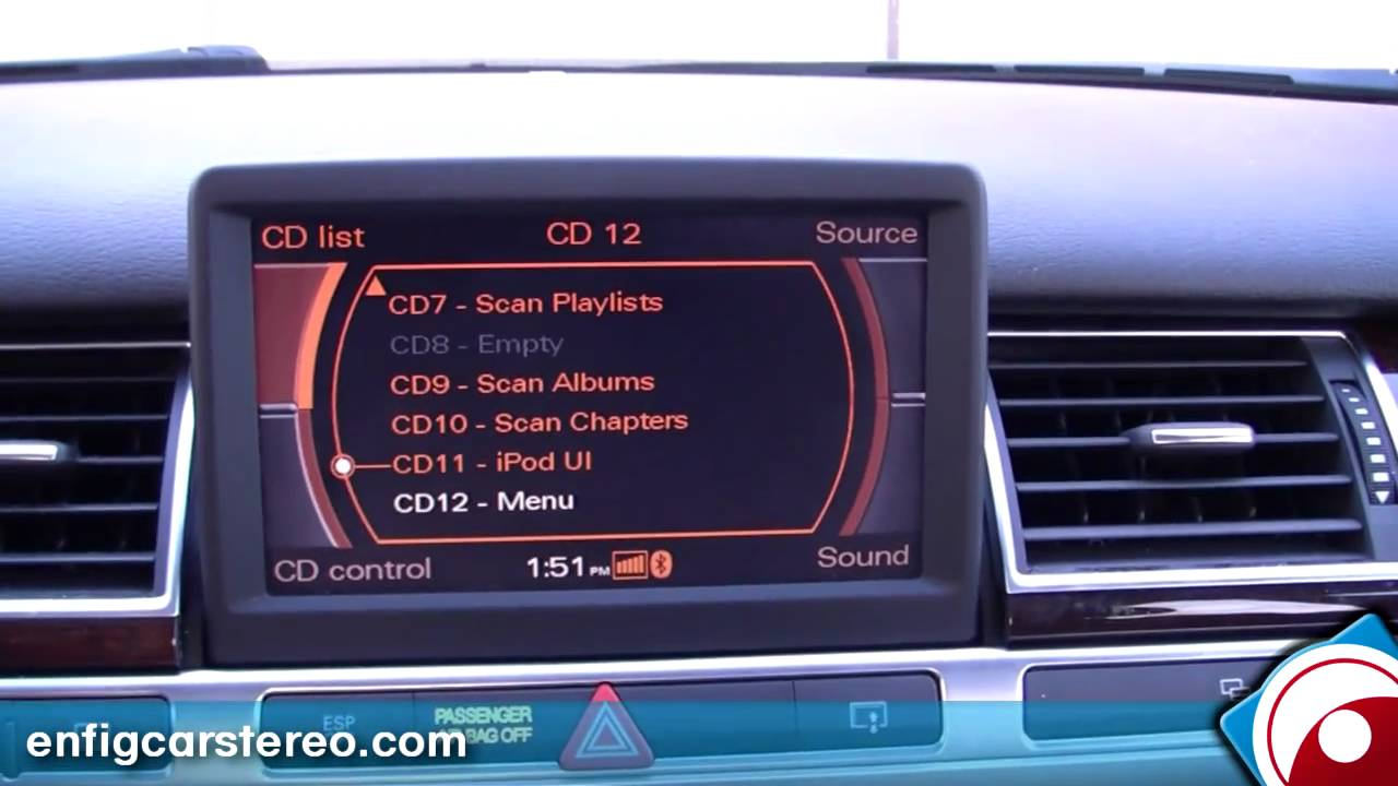 2006 Audi A8 Ipod Iphone Usb Aux Adpater Dension Gw51mo2