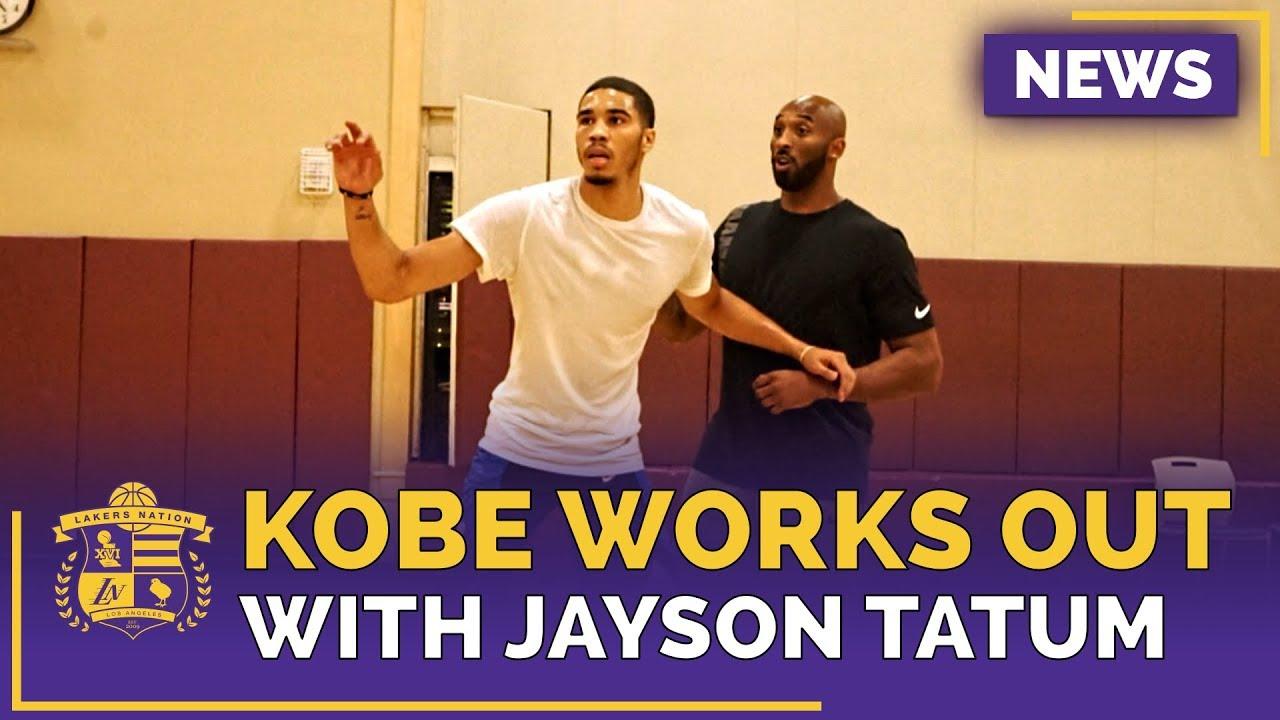 lakers-news-kobe-bryant-works-out-with-celtics-forward-jayson-tatum