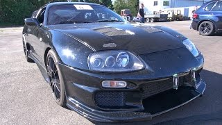1100HP Toyota Supra 2JZ vs G-POWER M6 vs C63 Makani RaceTech EVO II