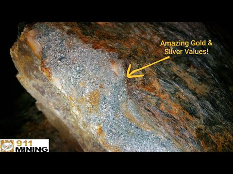 Very High Grade Gold & Silver Stockwork Deposit With Stringer Veins In A Quarry!