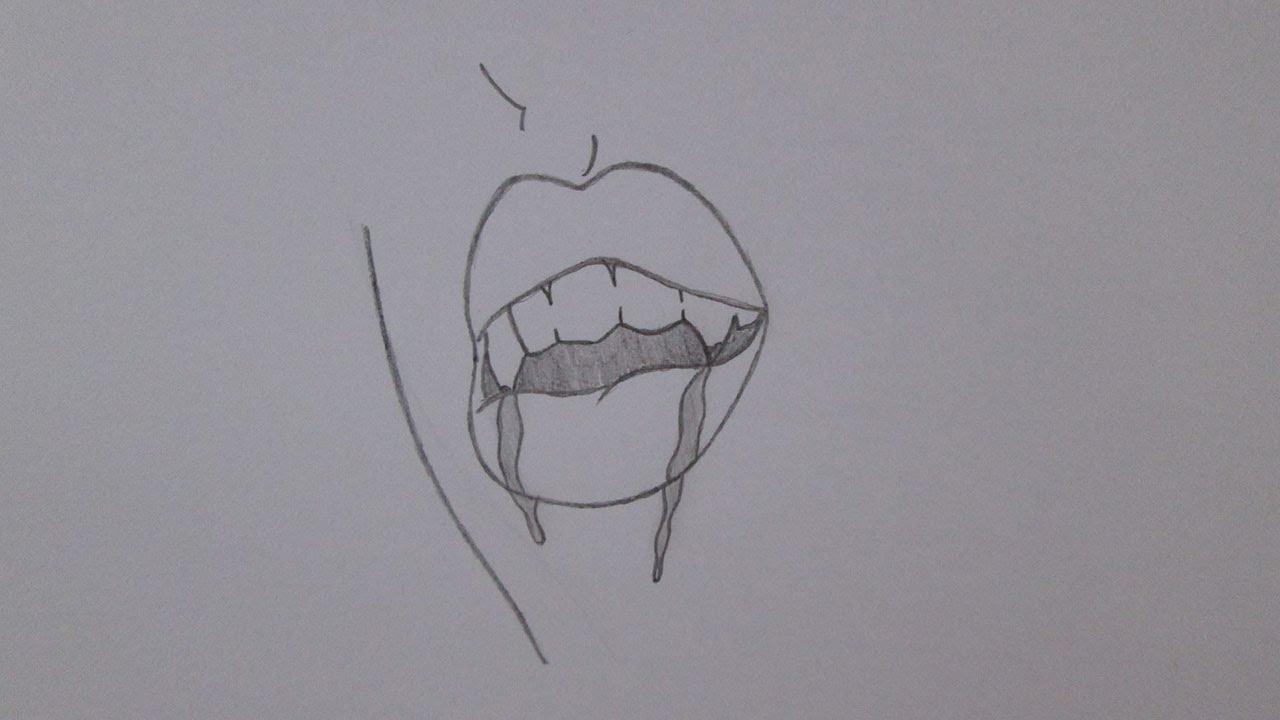 como desenhar a boca de um vampiro youtube