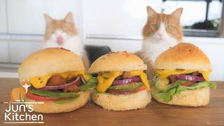 homemade-vegan-burger