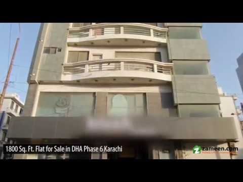 1,800 Sq  Ft  FLAT AVAILABLE FOR SALE IN PHASE 6 DHA KARACHI