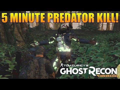 PREDATOR BOSS FIGHT BEAT IN 5 MINS! | Predator Fight Funny Moments (Ghost Recon Wildlands Predator)