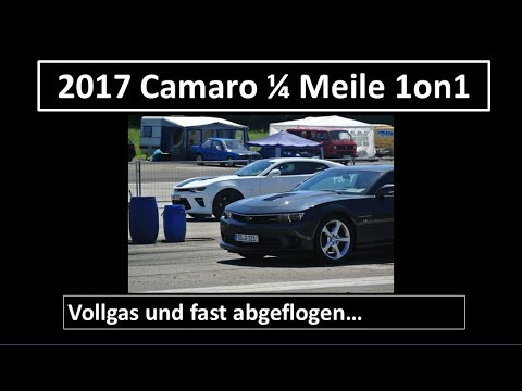 2017 Camaro 14 Meile Drag Race Mit 1on1 Motorsports Youtube