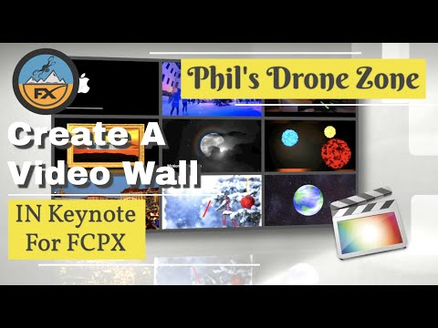 How To Create A 3D Effect Video Wall In Keynote For FCPX - No Plugins Or Additional Software