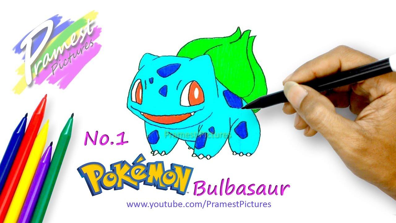 Bulbasaur Cara Menggambar Dan Mewarnai Gambar Pokemon Untuk Anak