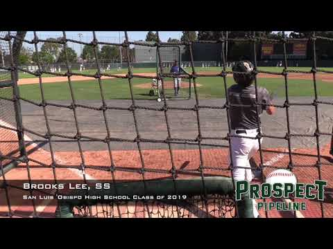 Brooks Lee Prospect Video, SS, San Luis Obispo High School Class of 2019