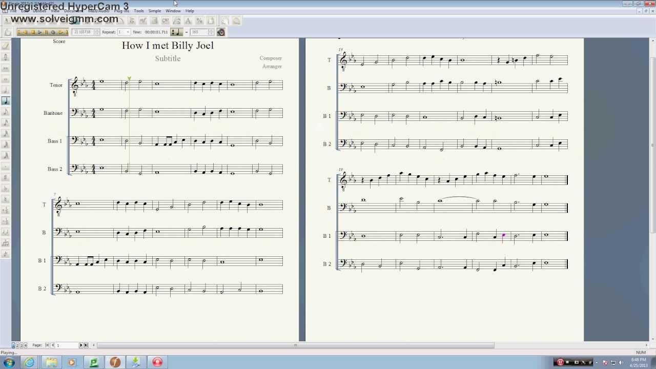 billy joel the longest time sheet music pdf