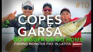 Copes Garša #10 - Fishing Monster Pike in Latvia (ENG, RUS subs)