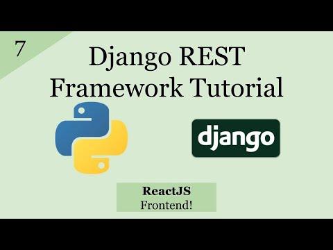 Django REST Framework With React JS Frontend   Django REST Framework Tutorial