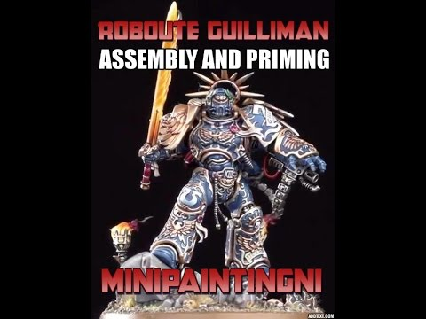 Triumvirate of the Primarch assembly and priming Roboute Guilliman