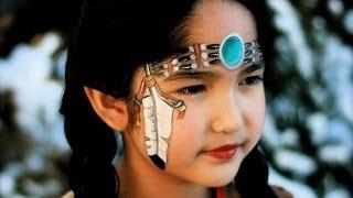Repeat youtube video Indianerin schminken - Indianerin Pocahontas Kinderschminken Anleitung für Fasching