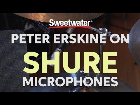 Peter Erskine on Shure Microphones