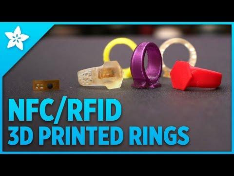 NFC/RFID 3D Printed Rings