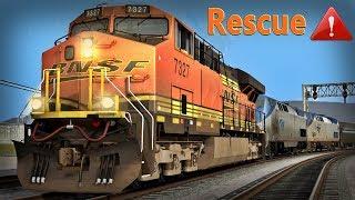 BNSF Rescues Amtrak Train