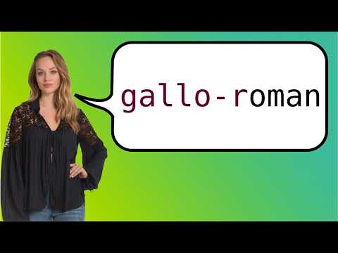 How to say 'Gallo-Romance' in French?