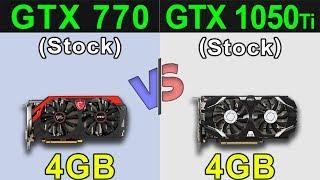 GTX 770 (4GB) VS GTX 1050 Ti (4GB) | New Games Benchmarks