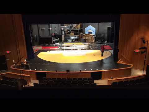 """The 25th Annual Putnam County Spelling Bee"" Stage Painting Timelapse"
