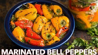 Marinated Mini Sweet Peppers Recipe - Easy Side Dish