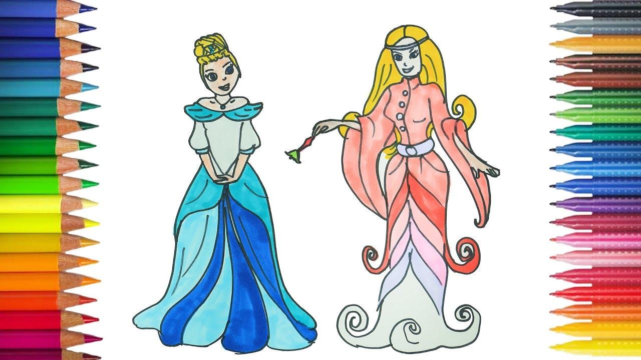 Cinderella Dengan Peri Menggambar Dan Mewarnai