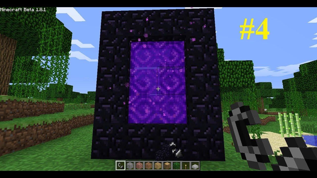 как сделать портал в ад в майнкрафте 1.11 #8
