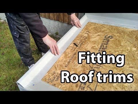 Part 2 Fibreglass Roof Trims - Cut and Fit GRP Edges