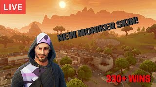 FORTNITE BATTLE ROYALE SOLO/SQUAD NEW MONIKER SKIN! TOP PLAYER! (330+WINS) [NL]