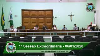 Sessão da Câmara Extraordinária 06/01/2020