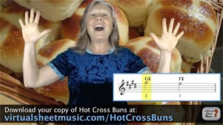 How to play Hot Cross Buns - Violin Lesson & Play Along