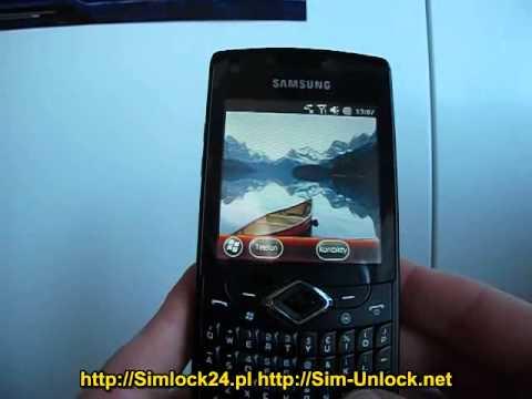 Samsung B7350 Omnia Pro 4 unlocking simlock enter code