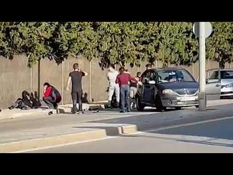Herido tras una brutal colisión en Jerez
