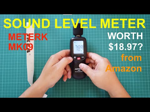 Sound Level Meter - MeterK MK09 - Measures loudness or quiteness
