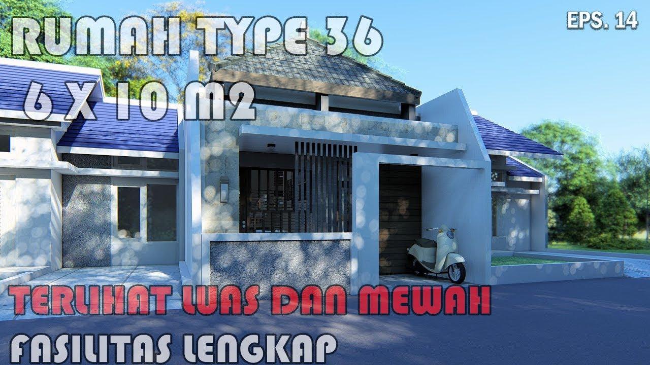 Rumah type 36 Terlihat Luas dan Mewah - YouTube