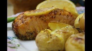 Запечённая рыба с картошкой по португальски