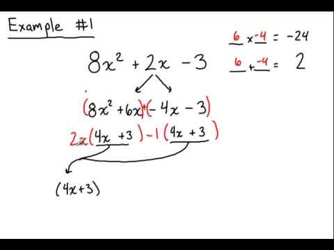 Factoring 2 Quadratics Where A Is Not 1