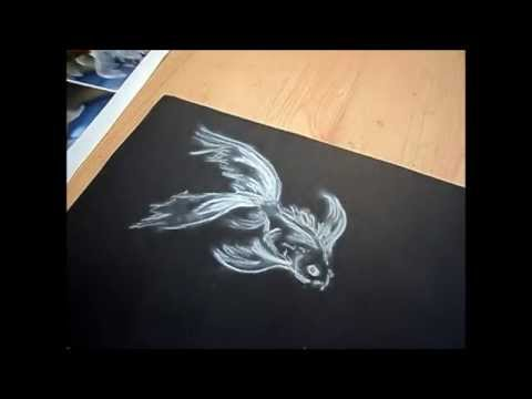 art made easy chalk goldfish youtube