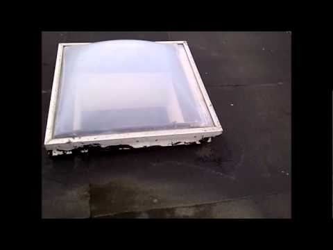 how to clean remove a square skylight dome