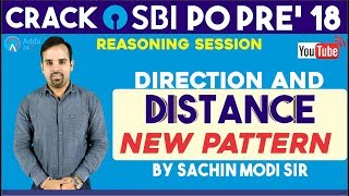 SBI PO/CLERK | Direction and Distance New Pattern |Reasoning| Sachin sir