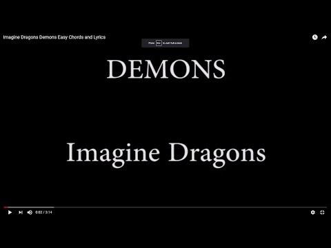 Imagine Dragons Demons Easy Chords And Lyrics Youtube