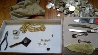 Silverpicker's HUGE Garage Sale Haul! Scrap Silver & Gold, Silver Coins Galore! #16 (Part 1)(This is a video detailing my picking at