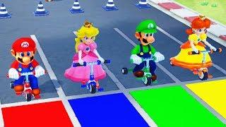 Super Mario Party - Minigames - Mario vs Luigi vs Peach vs Daisy