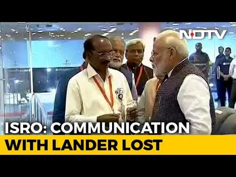 Communication Lost With Chandrayaan Lander Before Landing, PM Consoles ISRO Chief